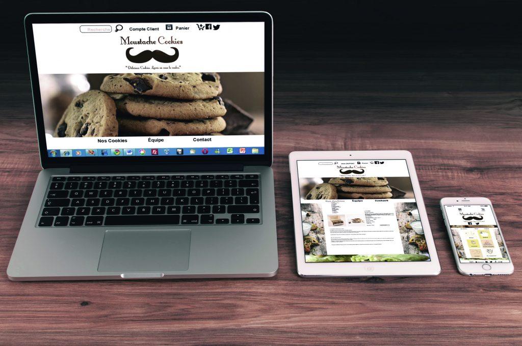 Moustache cookies sur supports