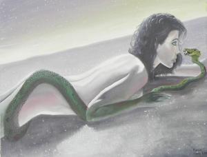 femme au serpent