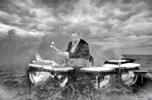 percussion -photomontage
