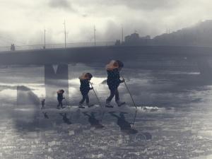 polution - photomontage